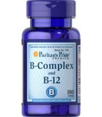 Puritan Vitamin B Complex And Vitamin B12 180เม็ด วิตามินบีรวม บำรุงประสาทสมอง ตา ผิวหนังและเส้นผม