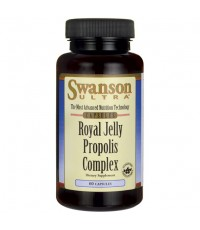 Swanson Royal Jelly Propolis Complex 60 เม็ด (USA) เข้มข้น 6HDA นมผึ้งผสม Bee Propolis