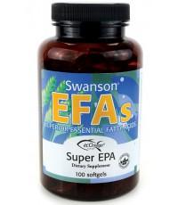Swanson EFAs Super EPA Fish Oil 100 Softgels โดยเป็นลิขสิทธิ์ของ ecOmega® ซึ่งมี EFAs มากสุด