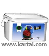 Or. LORI อาหารนกโลรีชง ปั้นเป็นก้อน สำหรับนกนกโลรีโต บรรจุ 3 กิโลกรัม