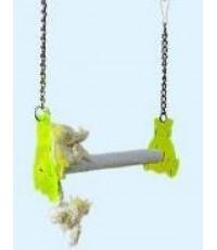 คอนลับเล็บแบบแขวน รูปแบบชิงช้า สำหรับนก อาทิ ซันคอร์นัวร์ ริงเน็ค กรีนชีค โลลี บรรจุ 1 คอน