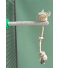 คอนลับเล็บ หนีบติดกับกรง มีเชือกสำหรับ นกค็อกคาเท็ล เลิฟเบิร์ด โลรีเล็ก ฟอฟัส หงษ์หยก บรรจุ 1 คอน
