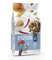 Puur parrot อาหารนกเกรด A สำหรับ แอฟริกันเกร์ มาคอร์ คอนนัวร์ กระตั้ว เกรดพรีเมี่ยม บรรจุ 2 กืโลกรัม