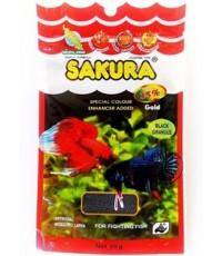 SAKURA SPECIAL Colour อาหารปลากัด เม็ดดำ สูตรเร่งสี เพิ่มพลัง บรรจุ 90 ซอง