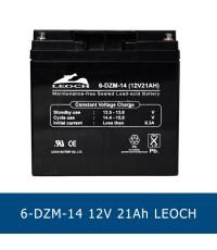 แบตเตอรี่ แห้ง 12v LEOCH SLA BATTERY 6-DZM-14 12V 21AH