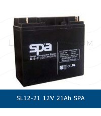 แบตเตอรี่แห้ง SPA SLA BATTERY SL12-21 12V 21AH ( Panasonic 6-DZM-14 LC-XC1221 )