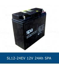 แบตเตอรี่แห้ง 12V 24Ah SPA SLA BATTERY SL12-24EV Battery Lead Acid VRLA AGM