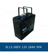 แบตเตอรี่แห้ง 12V 26Ah SPA SLA BATTERY SL12-26EV Battery Lead Acid VRLA AGM