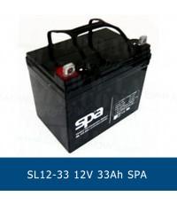 แบตเตอรี่แห้ง 12V 33Ah SPA SLA BATTERY SL12-33 Battery Lead Acid VRLA AGM