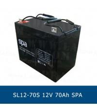 แบตเตอรี่แห้ง 12V 70Ah SPA SLA BATTERY SL12-70S Battery Lead Acid VRLA AGM