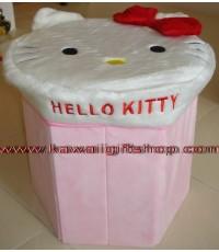 กล่องเอนกประสงค์ คิตตี้ Kitty (สามารถใส่ของและนั่งเป็นเก้าอี้ได้) หมดแล้ว