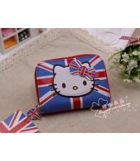 กระเป๋าใส่เศษสตางค์คิตตี้ kitty ลายธงชาติ