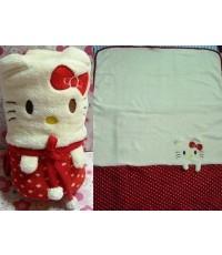 ผ้าห่มเด็กเล็กคิตตี้ kitty ไม่เป็นขนซักปั่นเครื่องได้เลยค่ะ