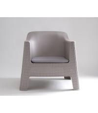 เก้าอี้มีแขน รุ่นอินแอนด์เอ้าท์ สีเบจ