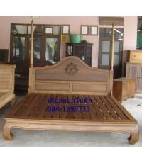 เตียงไม้สักขาคู้01