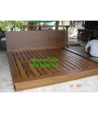 เตียงไม้สักP04
