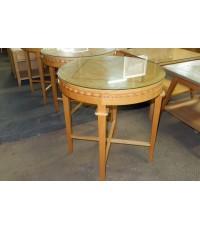 โต๊ะกาแฟทรงกลมไม้บีชมือสอง