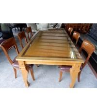 ชุดโต๊ะทานอาหารไม้บีช 6 ที่นั่งมือสอง