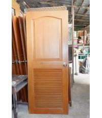 ประตูห้องน้ำไม้สัก 80*200 ซม.