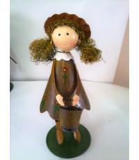ตุ๊กตาสังกะสี เด็กหญิงถือบัวรดน้ำ 18 cm