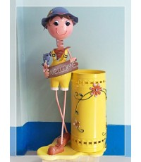 ตุ๊กตาสังกะสี กระถางใส่ร่ม (ตำหนิ)ต่ำกว่าทุน