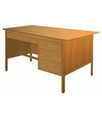 4' โต๊ะทำงาน 71 หัวเดียวขาไม้เบญฯ (สีเดินผ้า)