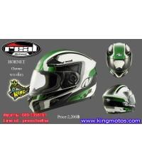 หมวก Real รุ่น Hornet Chrono สีขาว-เขียว (เบอร์ L )