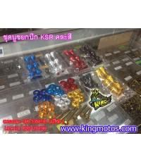 ชุดบูชยกชุดปีกข้าง KSR  (เลือกสีได้ )
