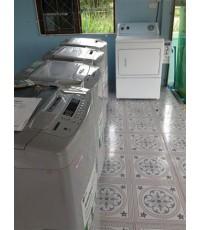 เครื่องซักผ้าหยอดเหรียญ จ.สุราษฎร์ธานี รุ่นใหม่INVERTER จำนวน6-8เครื่องขึ้นไปพร้อมติดตั้ง