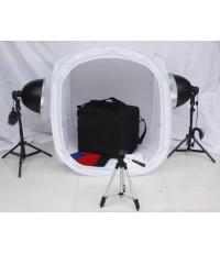 ชุดอุปกรณ์เต้น สำหรับถ่ายภาพสินค้าพร้อมไฟ ขนาด 80*80ซม.