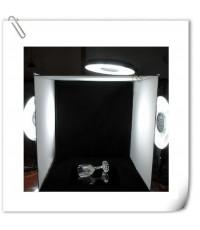 อุปกรณ์ไฟสตูดิโอ + เต้นถ่ายภาพสตูดิโอ ขนาด 40 x 40cm.