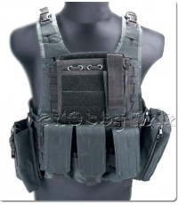 USMC MOLLE Assault Vest w/ Pouch Set (Black)