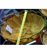 ตะกร้าสาน-พลาสติก-วงกลม19.5x7.5cm