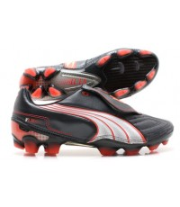 รองเท้าฟุตบอล Puma V1.11 K FG Black/White/Red