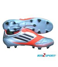รองเท้าฟุตบอล Adidas F50 Adizero TRX FG Leather Micoach Metallic Silver/Infrared Meesi 2012