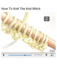 วิธีการถักลายนิต (How to knit the knit stitch)