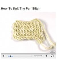 วิธีการถักลายเพิรล์ (How to knit the purl stitch)