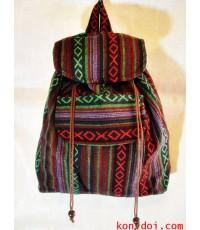 กระเป๋าเป้ ผ้าทอ