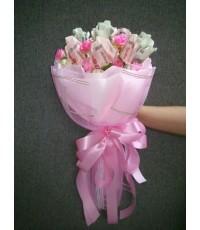 ช่อดอกไม้จากธนบัตร