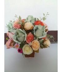 กระถางดอกไม้จากธนบัตร