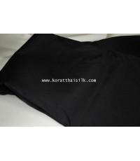 ผ้าไหม 2  เส้น สีดำ
