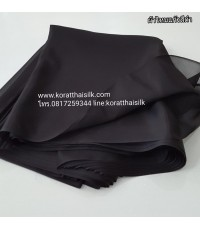 ผ้าไหมแก้ว สีดำ