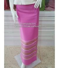 ผ้าไหมตัดชุดไทย สำหรับตัดผ้าถุง สีชมพู4
