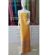 ผ้าไหมตัดชุดไทย สีเหลืองทอง1
