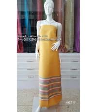 ผ้าไหมตัดชุดไทย สีเหลืองทอง2