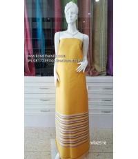 ผ้าไหมตัดชุดไทย สีเหลืองทอง3