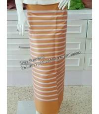 ผ้าทอเชิง สำหรับตัดผ้าถุง สีส้มทอง
