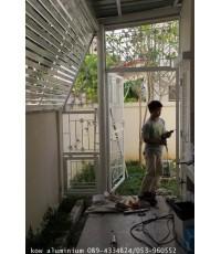งานติดตั้ง เหล็กดัด บ้าน อ.เล็ก หมู่บ้านสิวลี คลองชล