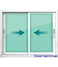 W1 หน้าต่างบานเลื่อน 2 บาน ขนาด 119 x 100 cm