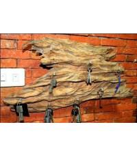 ที่แขวนกุญแจ ทำจากไม้เนื้อแข็ง ลายไม้ธรรมชาติ